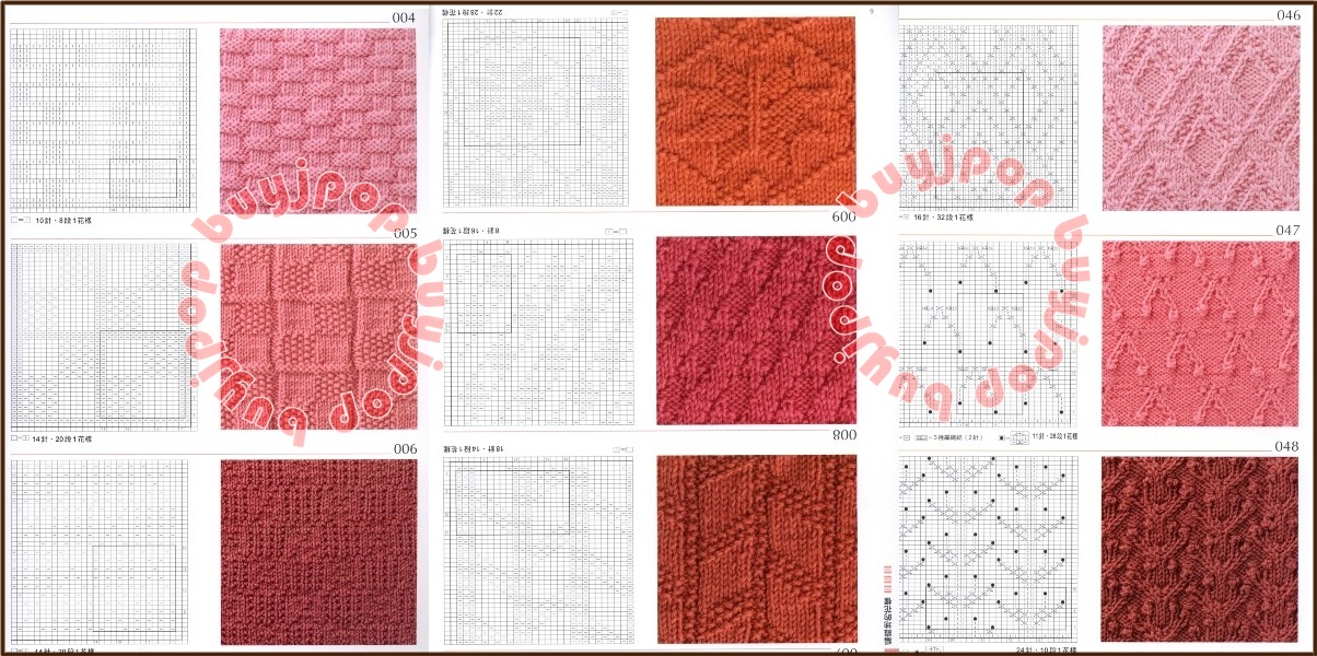 Knitting Stitch Patterns Book : Out of Print Chinese Japanese Knit Craft Pattern Book 300 Knitting Stitch Sty...