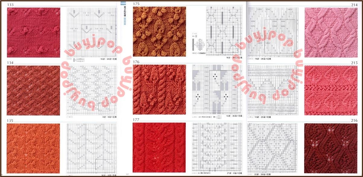 Out of Print Chinese Japanese Knit Craft Pattern Book 300 Knitting Stitch Sty...