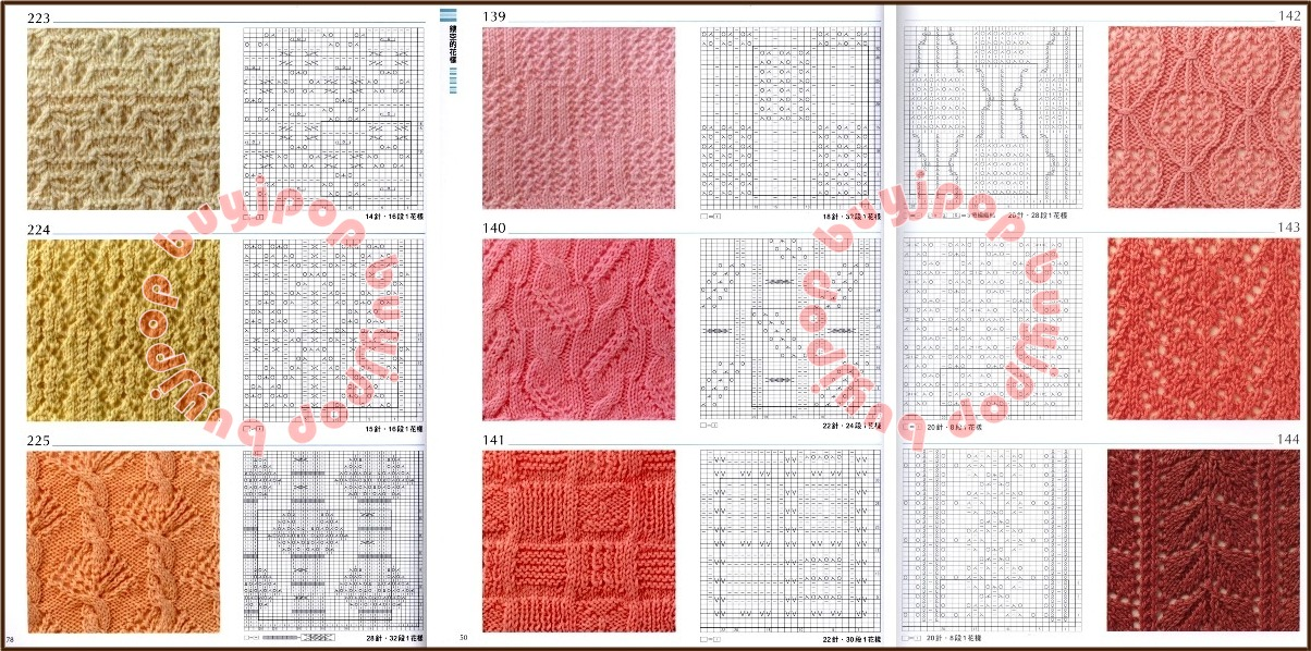 Japanese Knitting Patterns Free : Out of Print Chinese Japanese Knit Craft Pattern Book 300 Knitting Stitch Sty...