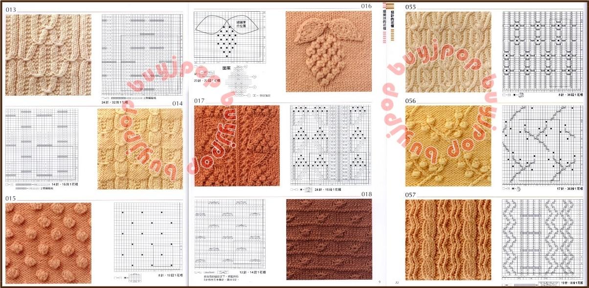 Out of Print Chinese Japanese Knit Craft Pattern Book 300 Knitting Stitch Style